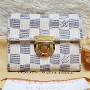 Louis Vuitton Damier Azur Wallet Compact